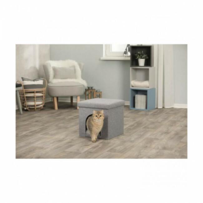 Abri à chat gris Alois Trixie 38 x 40 x 38 cm