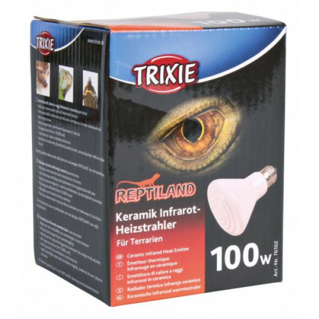 Ampoule chauffante infrarouge en céramique Trixie pour terrarium
