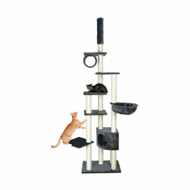 Arbre à chat gris Madrid hauteur 250 cm Trixie