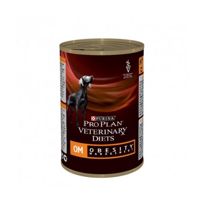 Boîtes Pro Plan Veterinary Diet OM Obesity Management pour chiens 12 boîtes 400 g