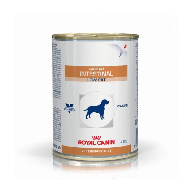 Boîtes Royal Canin Veterinary Diet Gastro Intestinal Low Fat pour chiens 12 Boîtes de 410 g