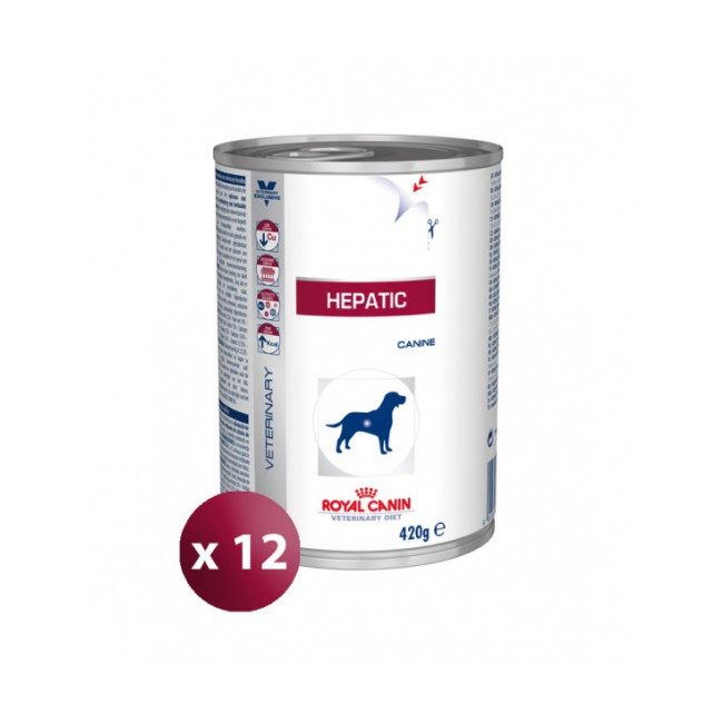 Boîtes Royal Canin Veterinary Diet Hepatic pour chiens 12 boîtes 420 g