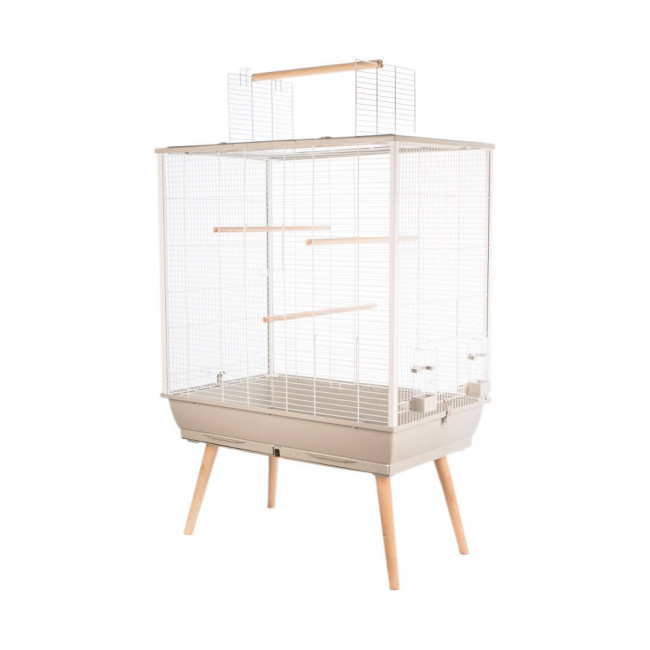 Cage pour oiseau Neo Jili Zolux beige 80 cm