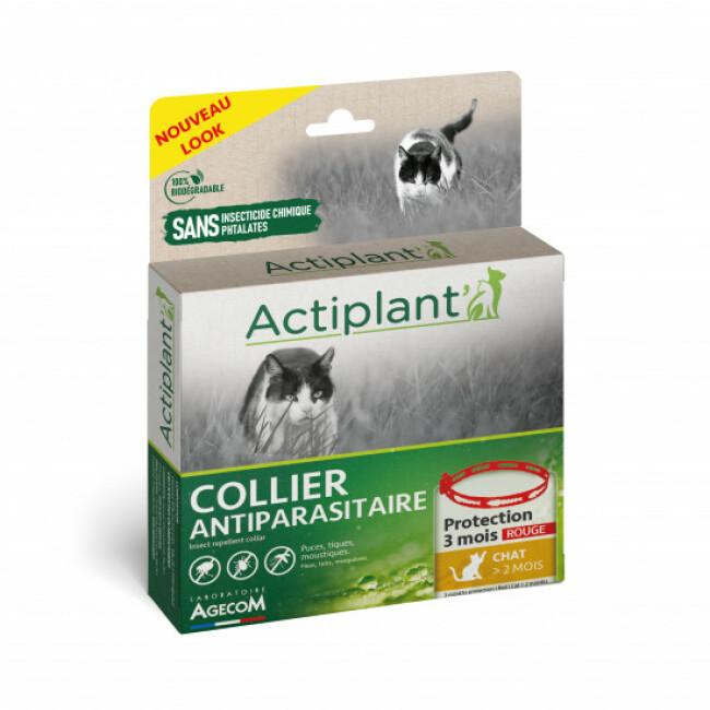 Collier antiparasitaire Essential Spotis rouge 35 cm pour chat