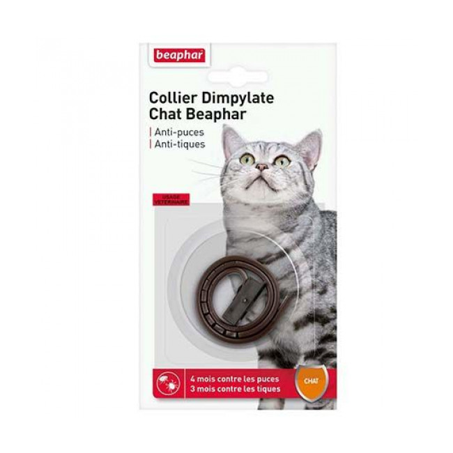 Collier Dimpylate anti-tiques et puces pour chat Beaphar