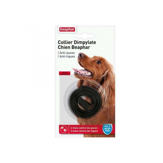 Collier Dimpylate pour petit et moyen chien anti-puces et tiques Beaphar