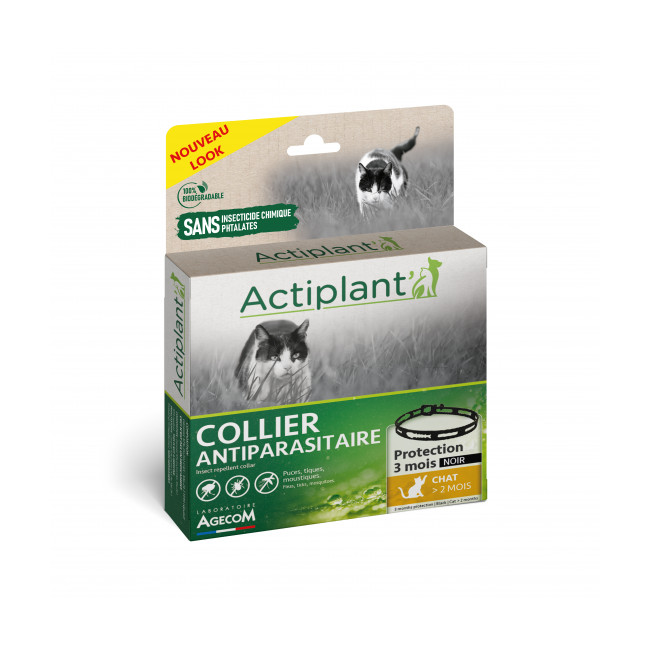 Collier Essential Spotis noir 35 cm pour chat