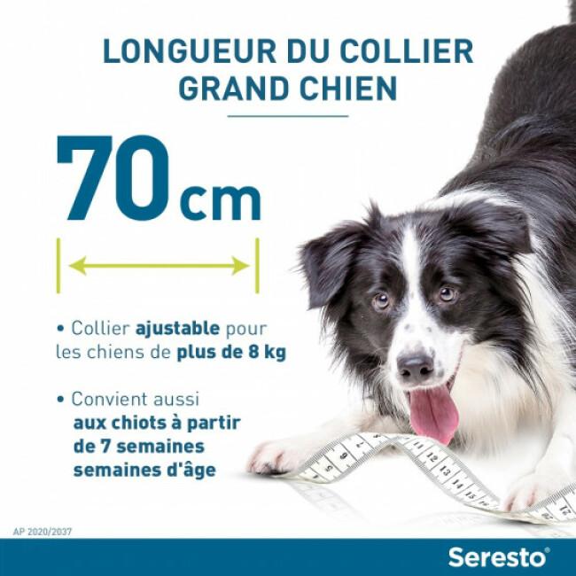 Collier Seresto anti-parasitaires pour chien