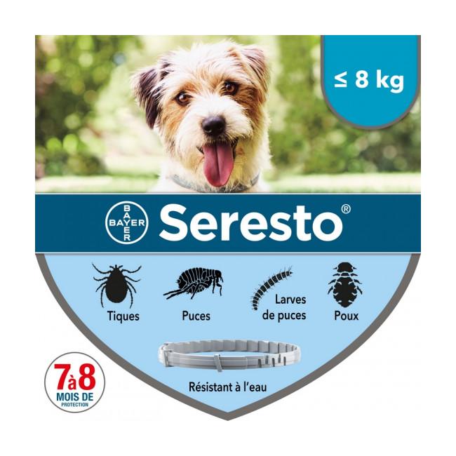 Collier Seresto Bayer Anti-puces et tiques pour chien