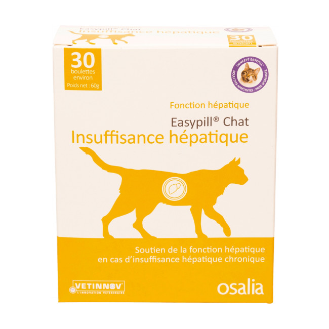 Complément alimentaire insuffisance hépatique pour chat Easypill