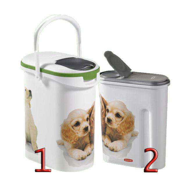 Container verseuse à croquettes décor chien Petlife