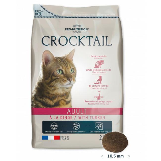 Croquettes à la dinde pour chat adulte Crocktail Flatazor Pro-Nutrition