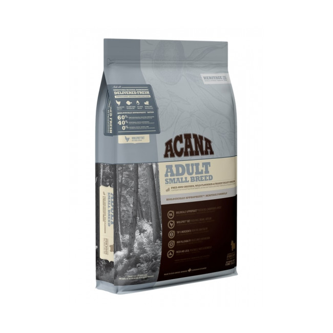 Croquettes Acana Heritage Adult Small Breed pour chien