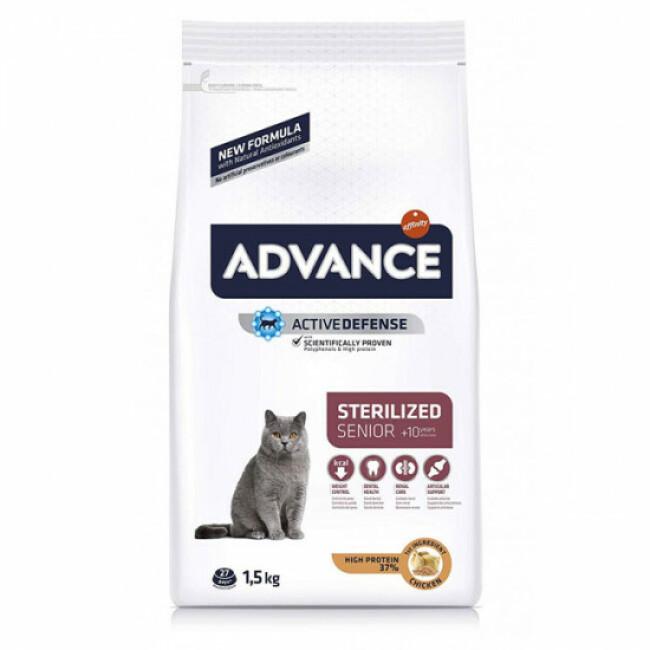 Croquettes Advance pour chats Sterilised +10 ans Sac 1,5 kg