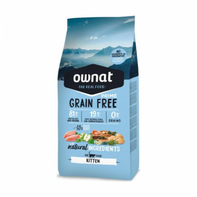 Croquettes chaton Ownat Grain Free Prime Kitten sans céréales