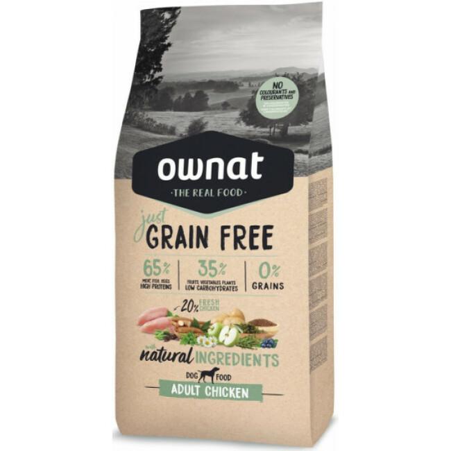 Croquettes chien adulte Ownat Just Grain Free Poulet sans céréales