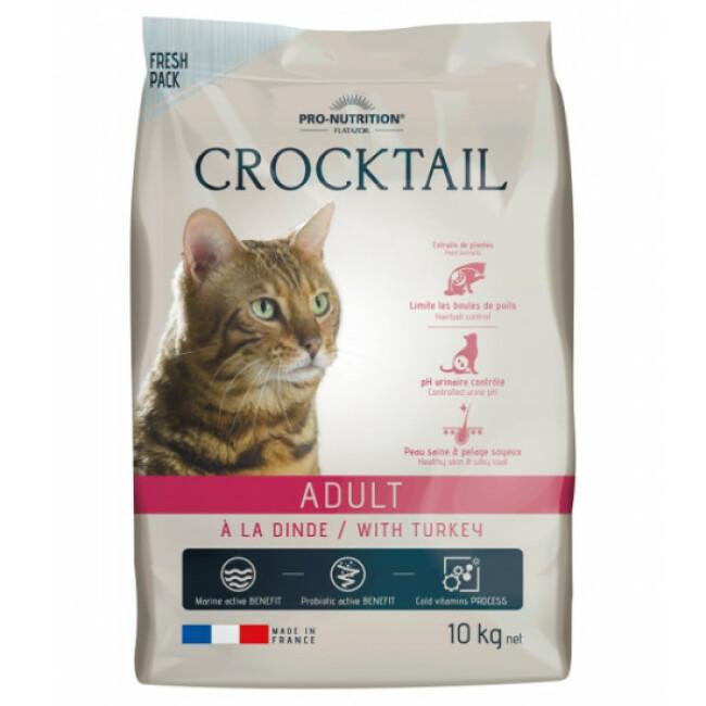Croquettes Crocktail Adult Flatazor Pro Nutrition à la dinde pour chat adulte