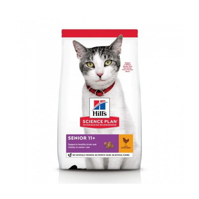 Croquettes Hill's Science Plan Feline Senior 11+ pour chat âgé
