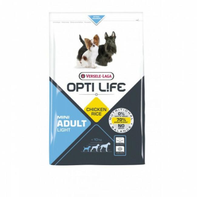 Croquettes pour chien adulte petite taille Opti Life Light