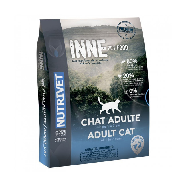 Croquettes Nutrivet Inne Cat Adult au poisson pour chat adulte