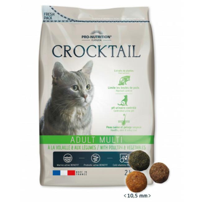 Croquettes pour chat adulte légumes et volaille Crocktail Adult Mini Flatazor Pro-Nutrition