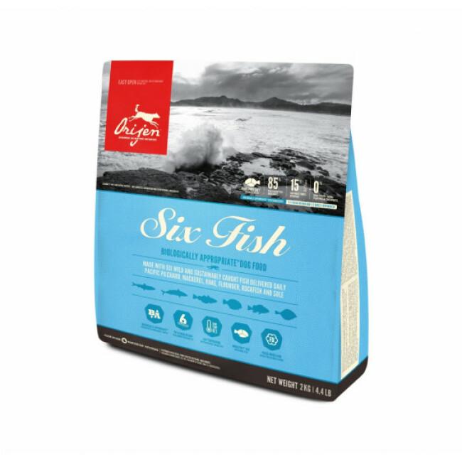 Croquettes pour chien adulte Orijen 6 Fish au poisson