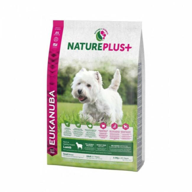 Croquettes pour chien adulte petite race Eukanuba Natureplus agneau