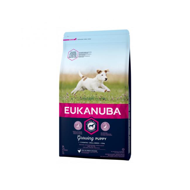 Croquettes pour chien junior petite race Eukanuba