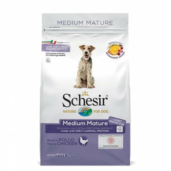 Croquettes pour chien senior taille moyenne Schesir Medium Mature