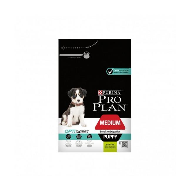 Croquettes Pro Plan Medium Puppy Sensitive Digestion OptiDigest Agneau