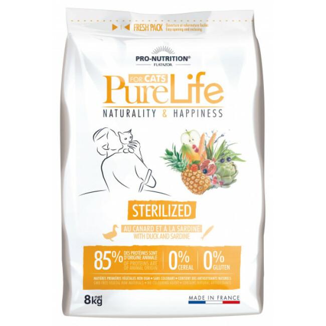 Croquettes sans céréales pour chats stérilisés Pure Life Pro Nutrition Flatazor