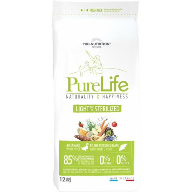 Croquettes sans céréales pour chien stérilisé Pure Life Light & Sterilized Flatazor Pro Nutrition