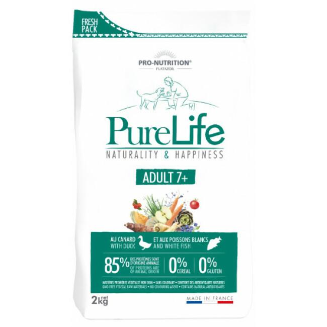 Croquettes sans céréales Pure Life Adult 7+ Flatazor Pro Nutrition pour chien mature