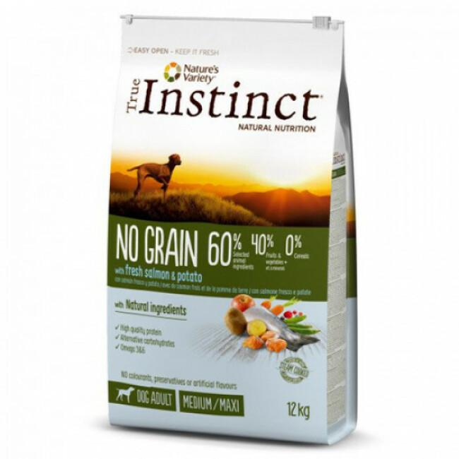 Croquettes True Instinct No Grain Medium et Maxi Adult Saumon
