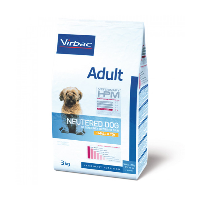 Croquettes Virbac Adult Neutered Dog Small et Toy