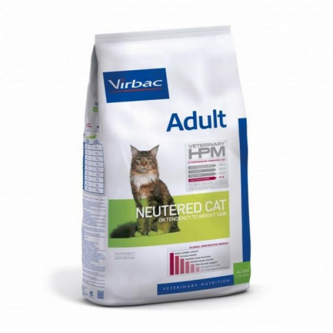 Croquettes Virbac HPM Neutered adulte pour chat