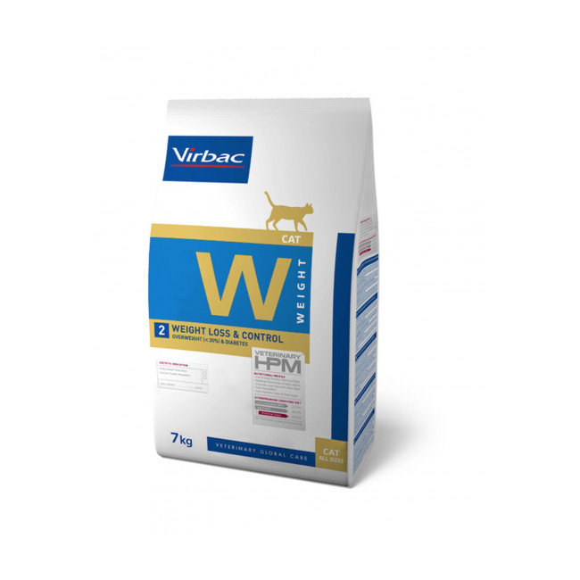 Croquettes Virbac HPM Weight Loss & Control W2 pour chat