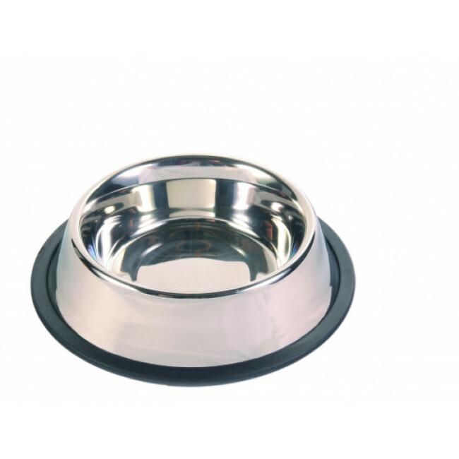 Écuelle pour chien lourde et anti-dérapante en acier inox Trixie