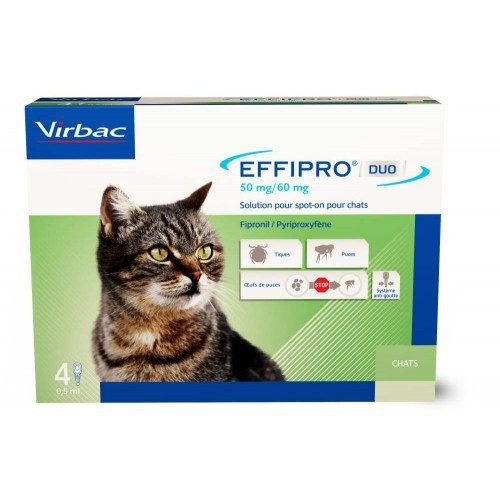 Effipro Duo soin antiparasitaire pour chats