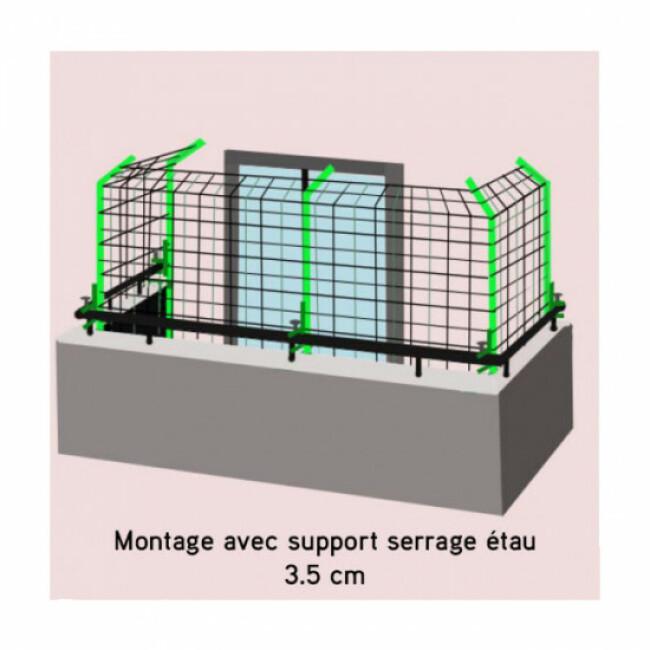Filet de sécurité pour balcon vert olive