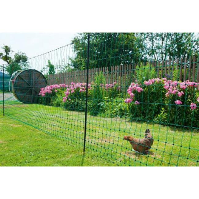Filet poules 25 m double pointe AKO vert Hauteur 112 cm