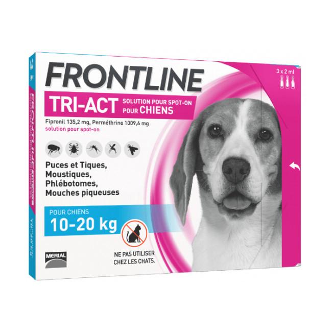 Frontline Tri-Act anti parasitaire Spot on pour chien