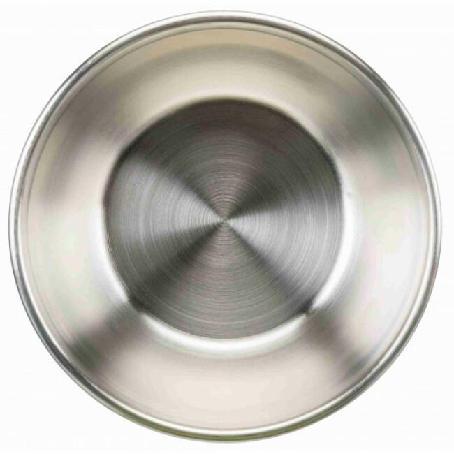 Gamelle avec couvercle en acier inoxydable pour chien