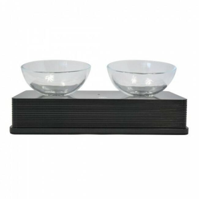 Gamelle double pour chien et chat Glass Diner Catit 2 x 200 ml