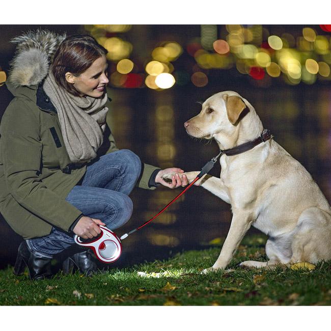 Laisse VARIO FLEXI enrouleur à sangle pour chien