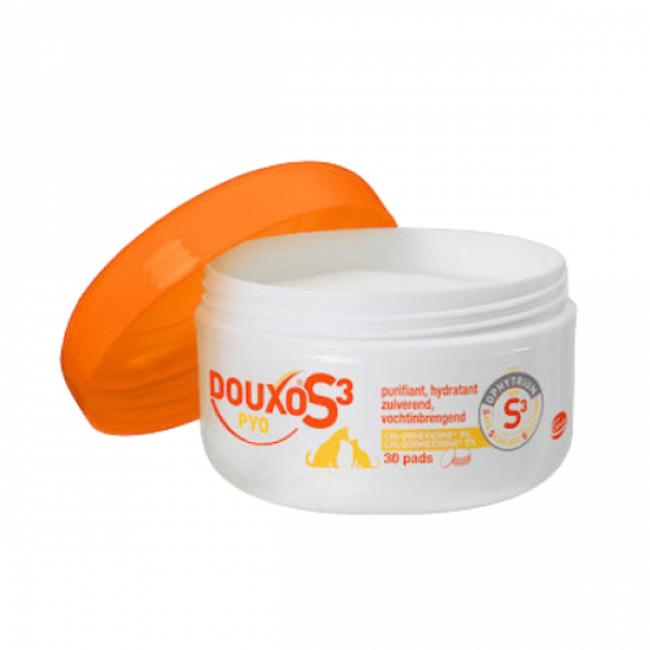 Lingettes désinfectantes Douxo Pyo S3 Pads pour chien et chat