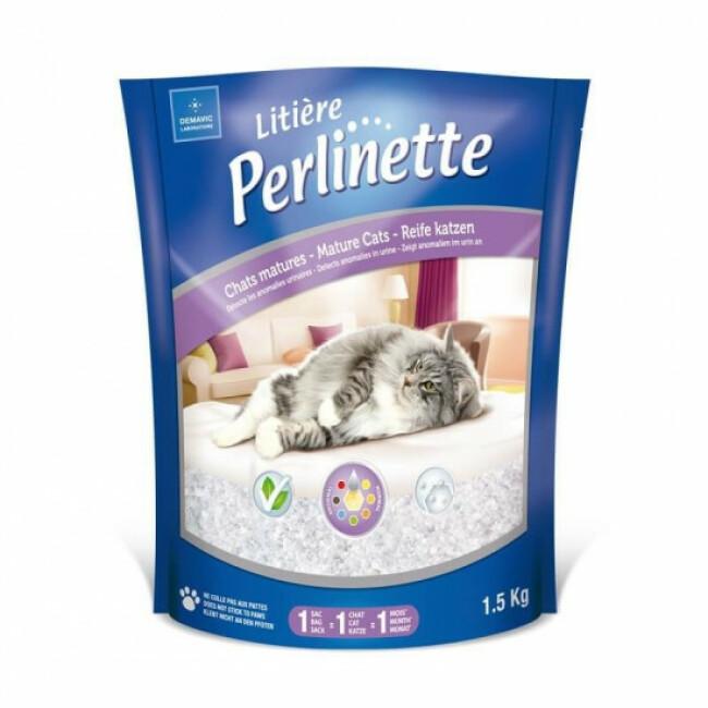 Litière Perlinette silice pour chat mature Sac 1,5 kg