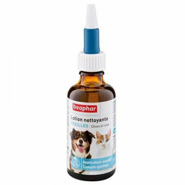 Lotion nettoyante yeux pour chien et chat avec applicateur souple Beaphar
