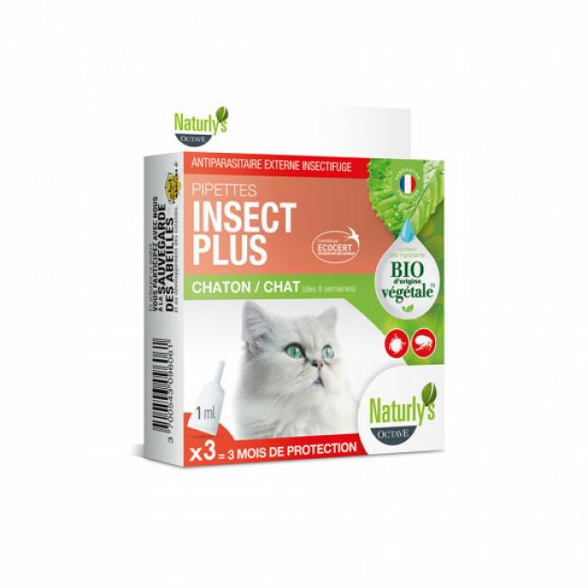 Naturlys soin antiparasitaire naturel pour chats 3 pipettes de 1 ml