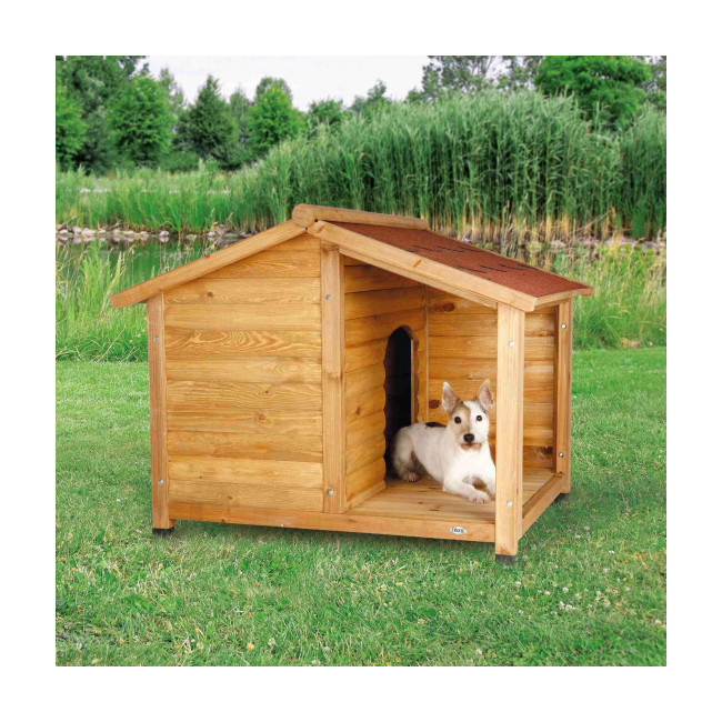 Niche bois Natura chalet pour chien